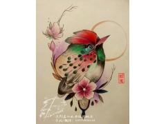 纹身刺青手稿鸟