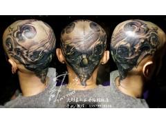 个性头部纹身